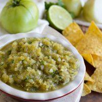 Grilled Green Tomato Salsa Verde