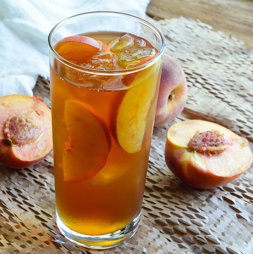 Peach iced tea recipe wonkywonderful for Tea and liquor recipes