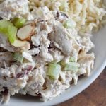 Cranberry Almond Chicken Salad Recipe - This easy chicken salad is satisfying and full of flavor! Serve with rice for a filling lunch.