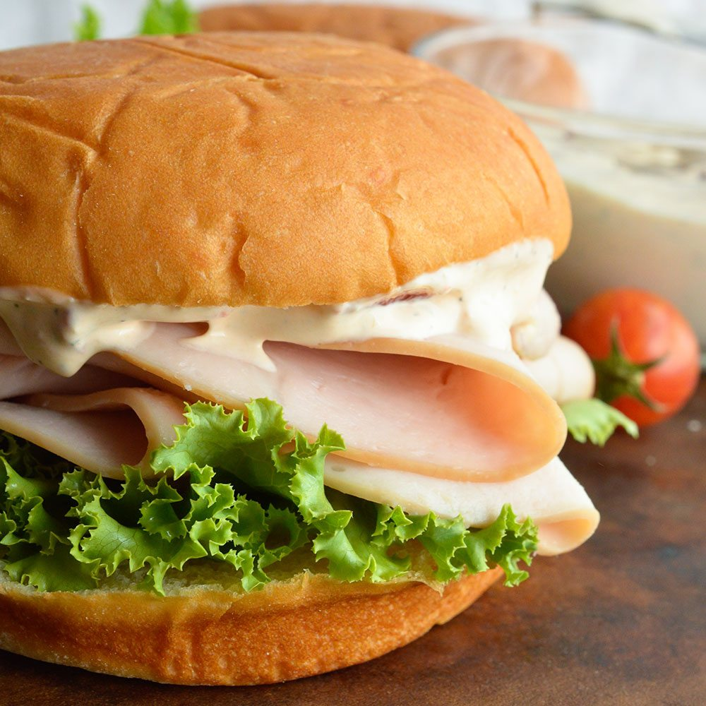 Turkey Sandwich with Chipotle Ranch Dressing
