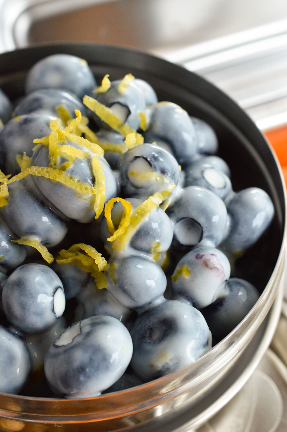 Healthy School Lunch Ideas - The kids will love this fun and flavorful lunch. But don't worry Moms; it is quick and easy too! This Lemon Blueberry Salad will be a hit!