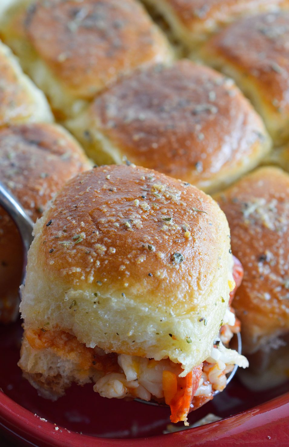 Oven baked pepperoni pizza sandwiches wonkywonderful for Easy tailgating recipes for a crowd