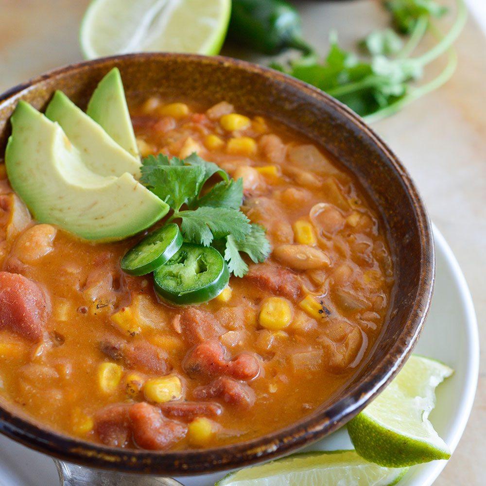 White Bean Vegan Chili Recipe