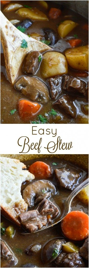 Just in time for the cold winter months, this Easy Beef Stew Recipe will warm you up on the coldest day! This hearty dinner is full of meat and vegetables for a nutritious family meal.