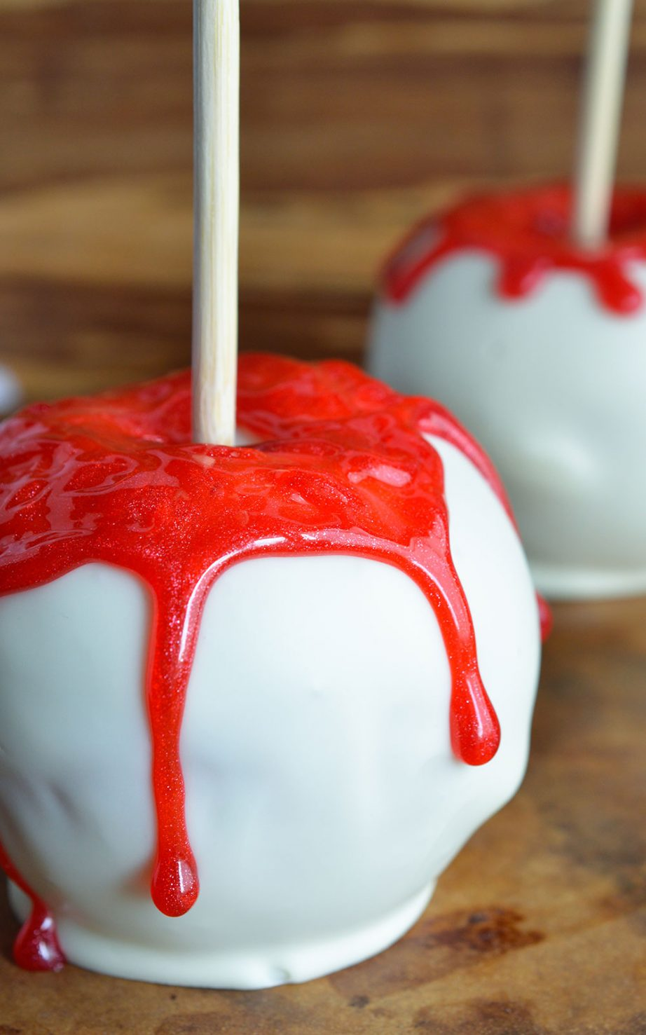 Bloody White Chocolate Apples - WonkyWonderful