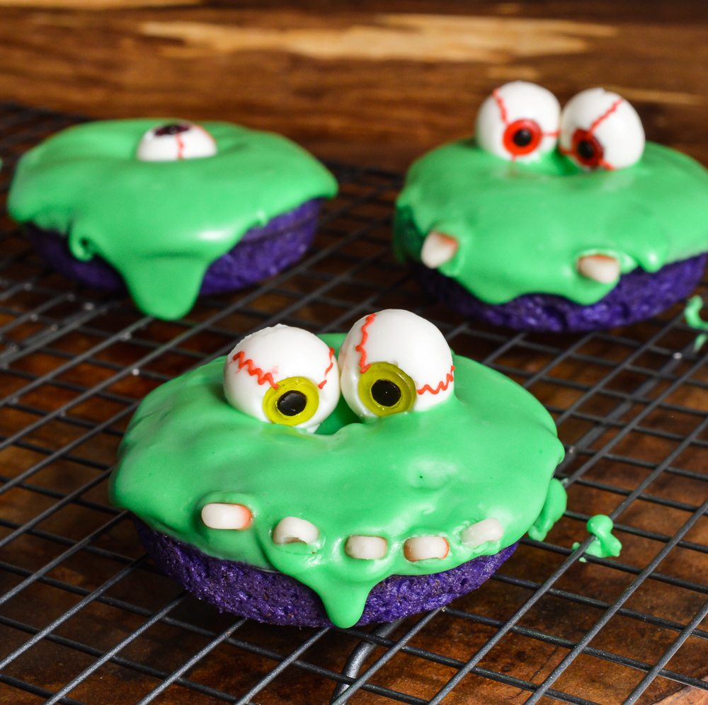 Slime Monster Halloween Donuts