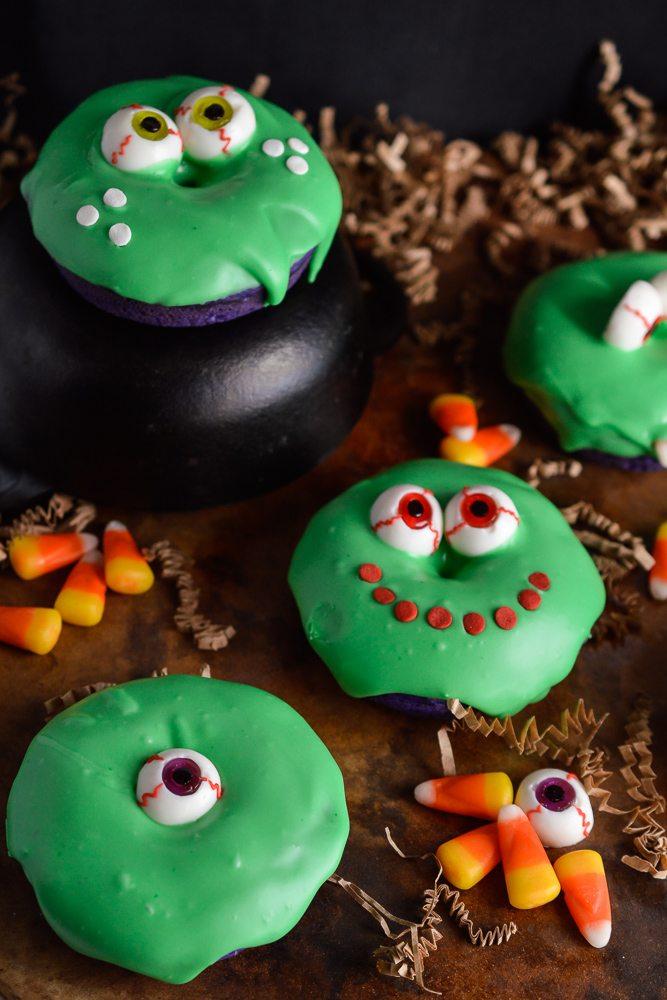Slime Monster Halloween Donuts Wonkywonderful