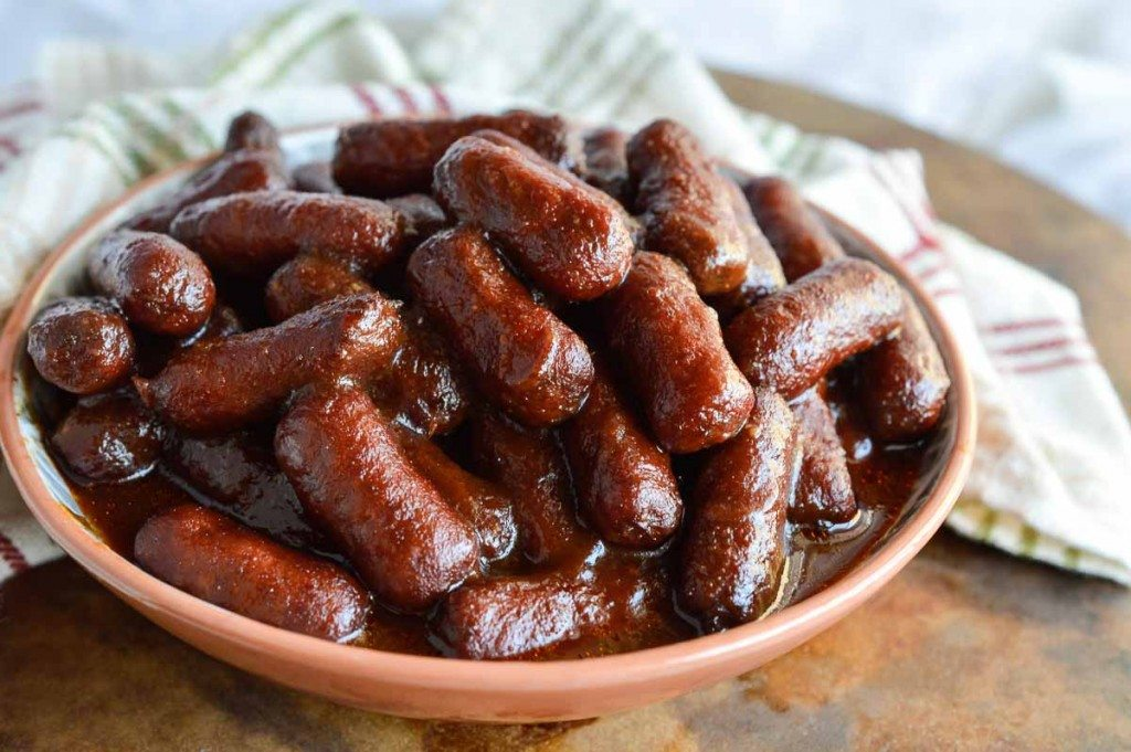 Apple Barbecue Slow Cooker Little Smokies Wonkywonderful