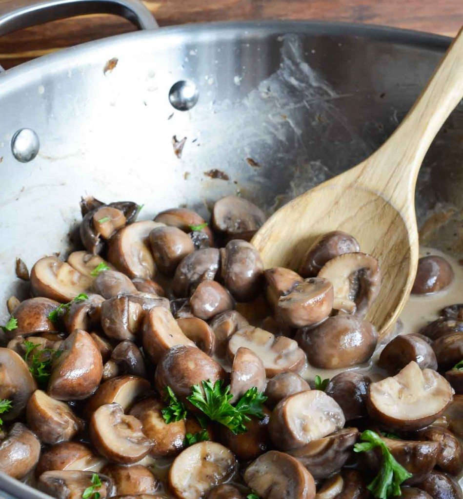 Creamy Sauteed Mushrooms
