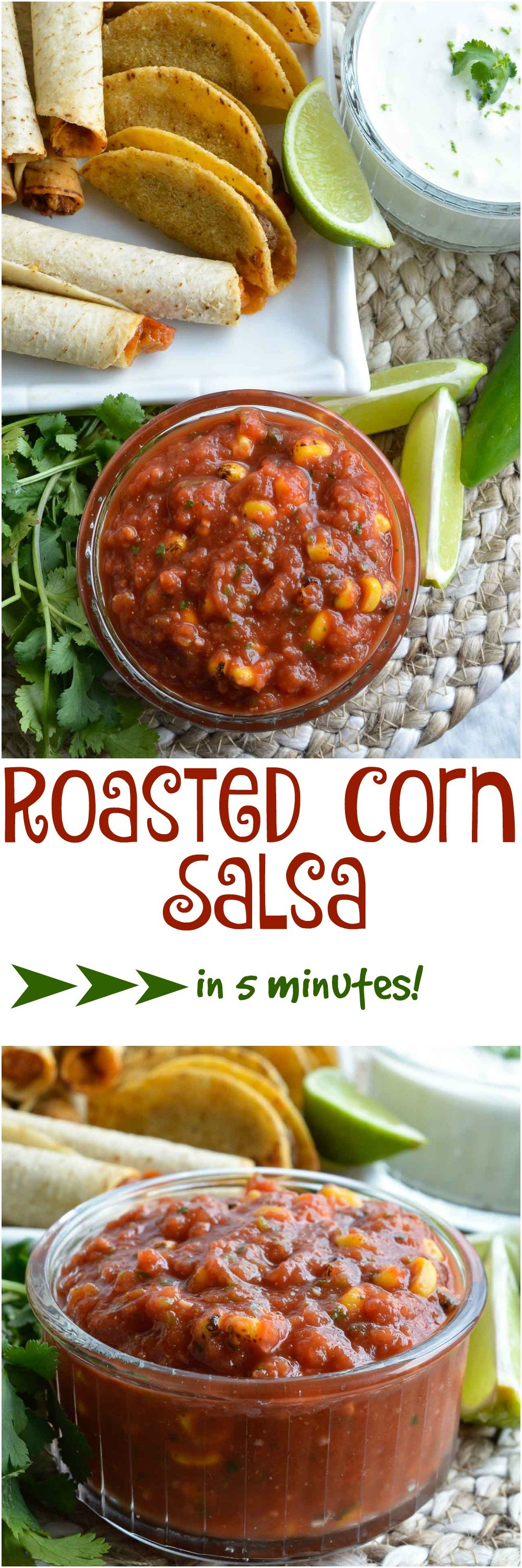 Easy roasted corn salsa wonkywonderful this homemade easy roasted corn salsa comes together in 5 minutes a restaraunt style salsa forumfinder Images
