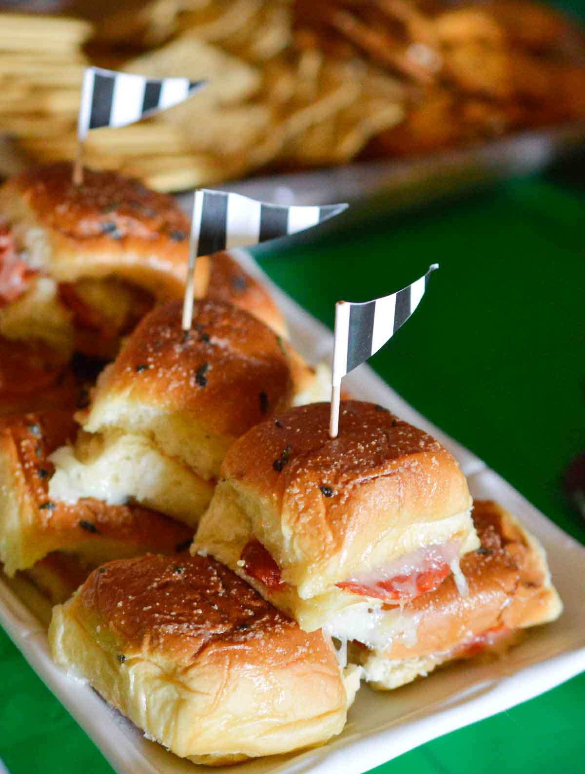 Oven Baked Sandwiches for an easy game day snack!