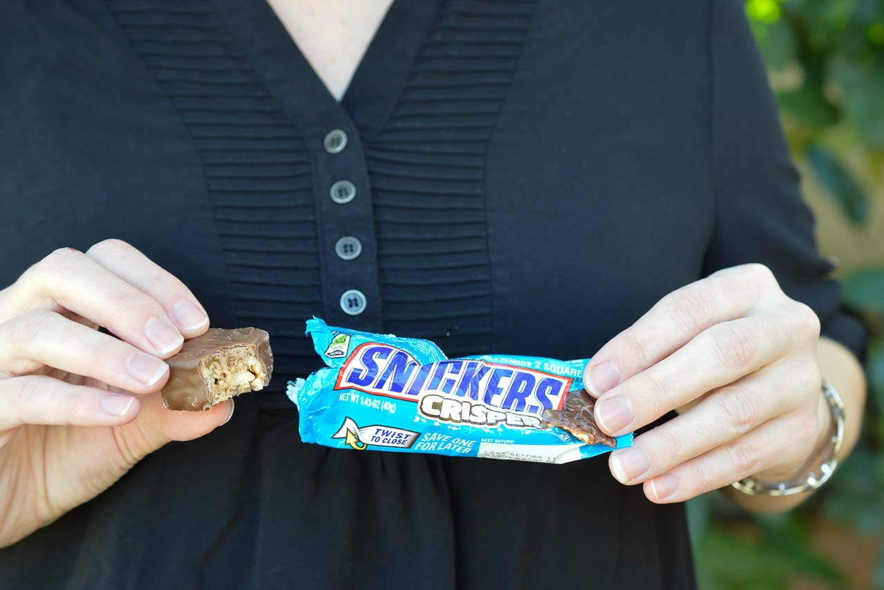 New Snickers Crisper is a fantastic snack on the go! A guilt-free 200 calorie treat!