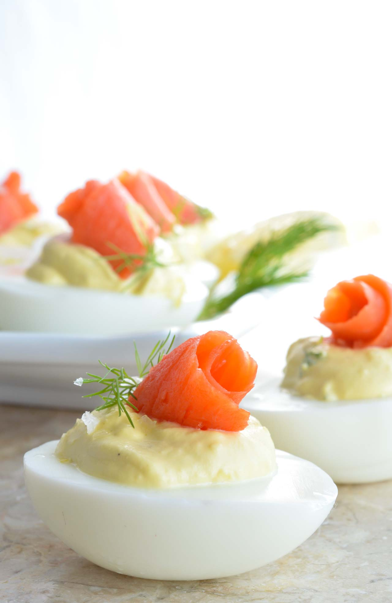 Smoked Salmon Deviled Eggs Recipe - WonkyWonderful