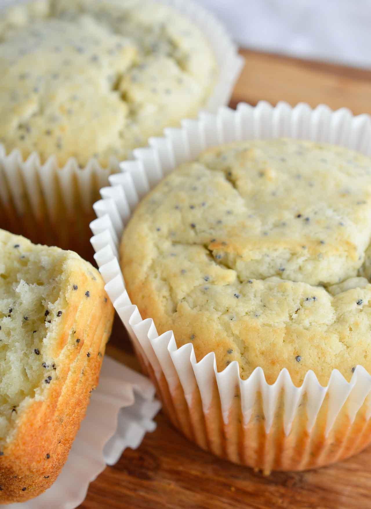 Almond Poppy Seed Muffins - WonkyWonderful