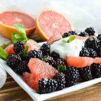 Fresh Fruit Salad with Blackberries and Grapefruit