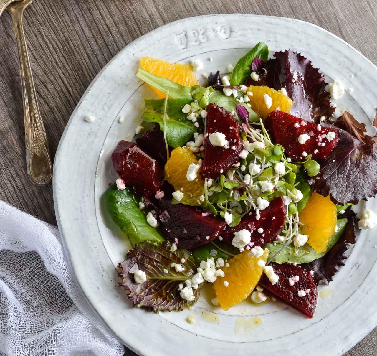 roasted beet salad with orange dressing
