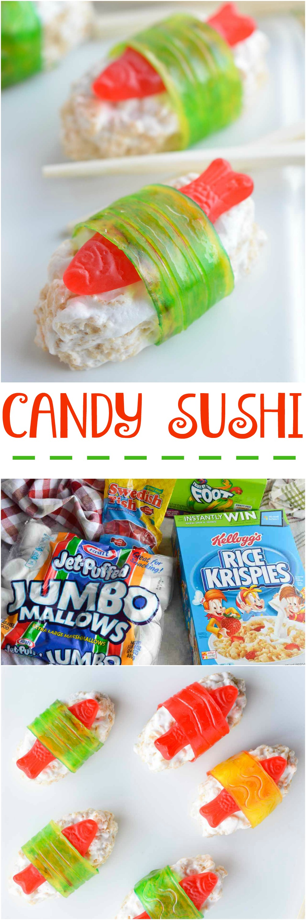 The Kids Will Go Crazy For This Candy Sushi Made With Rice Crispy Treats