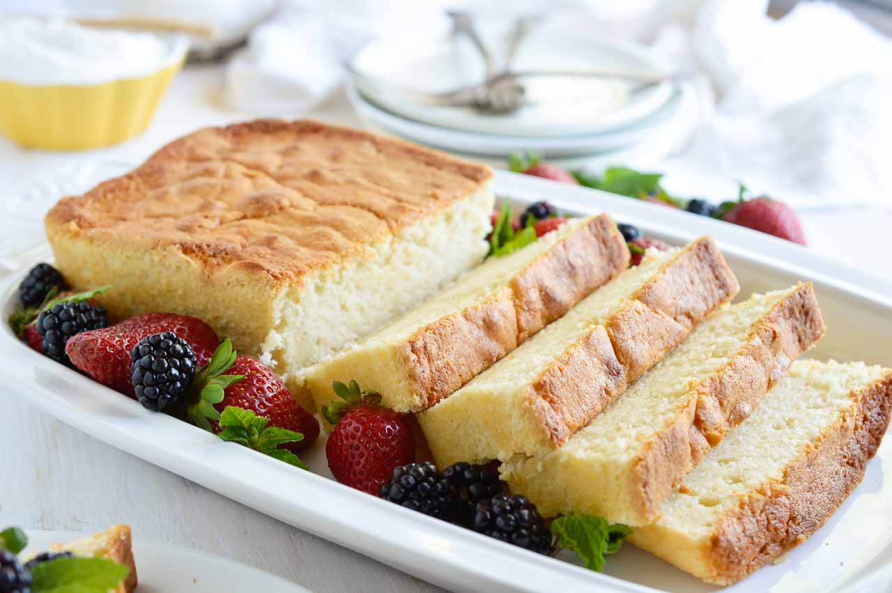 Make This Amaretto Pound Cake Recipe With Whipped Creme Fraiche For A Simple And Indulgent Dessert