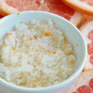 Grapefruit Sea Salt Body Scrub Recipe