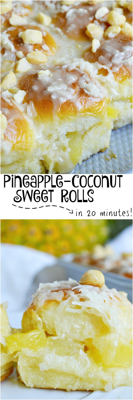 Pineapple Coconut Hawaiian Sweet Rolls Wonkywonderful