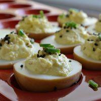 Deviled Soy Sauce Eggs (no mayo)
