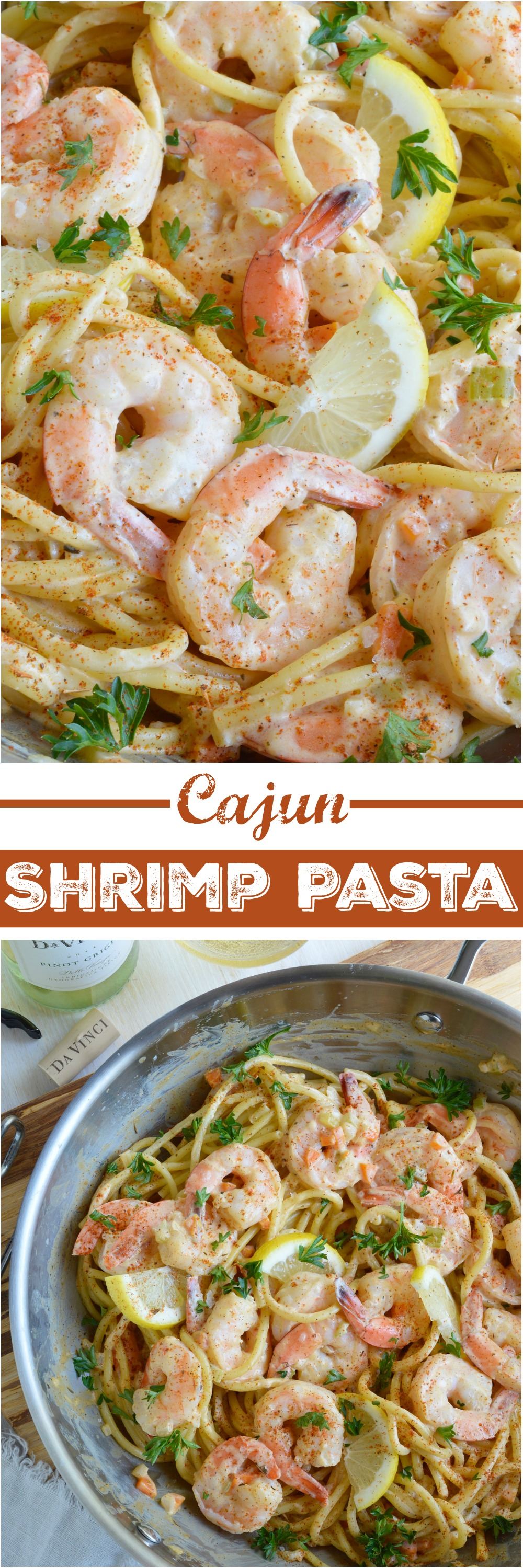Cajun shrimp pasta wonkywonderful cajun shrimp pasta is a fancy yet simple dinner recipe shrimp and pasta slathered in forumfinder Gallery