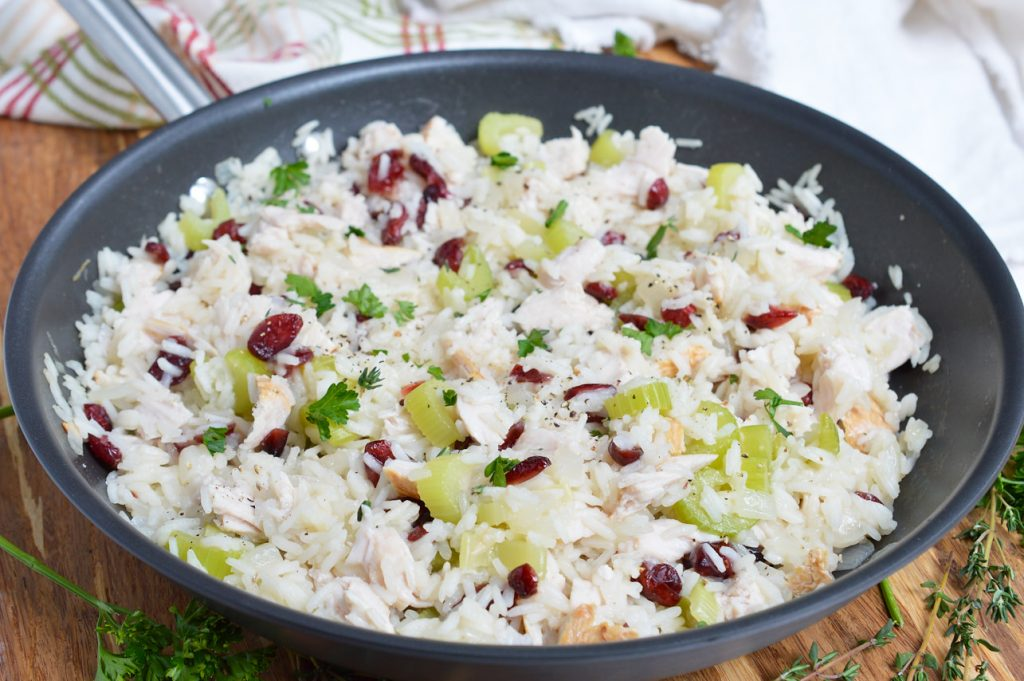 Leftover Turkey Cranberry Rice