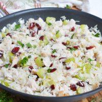 Leftover Turkey Cranberry Rice