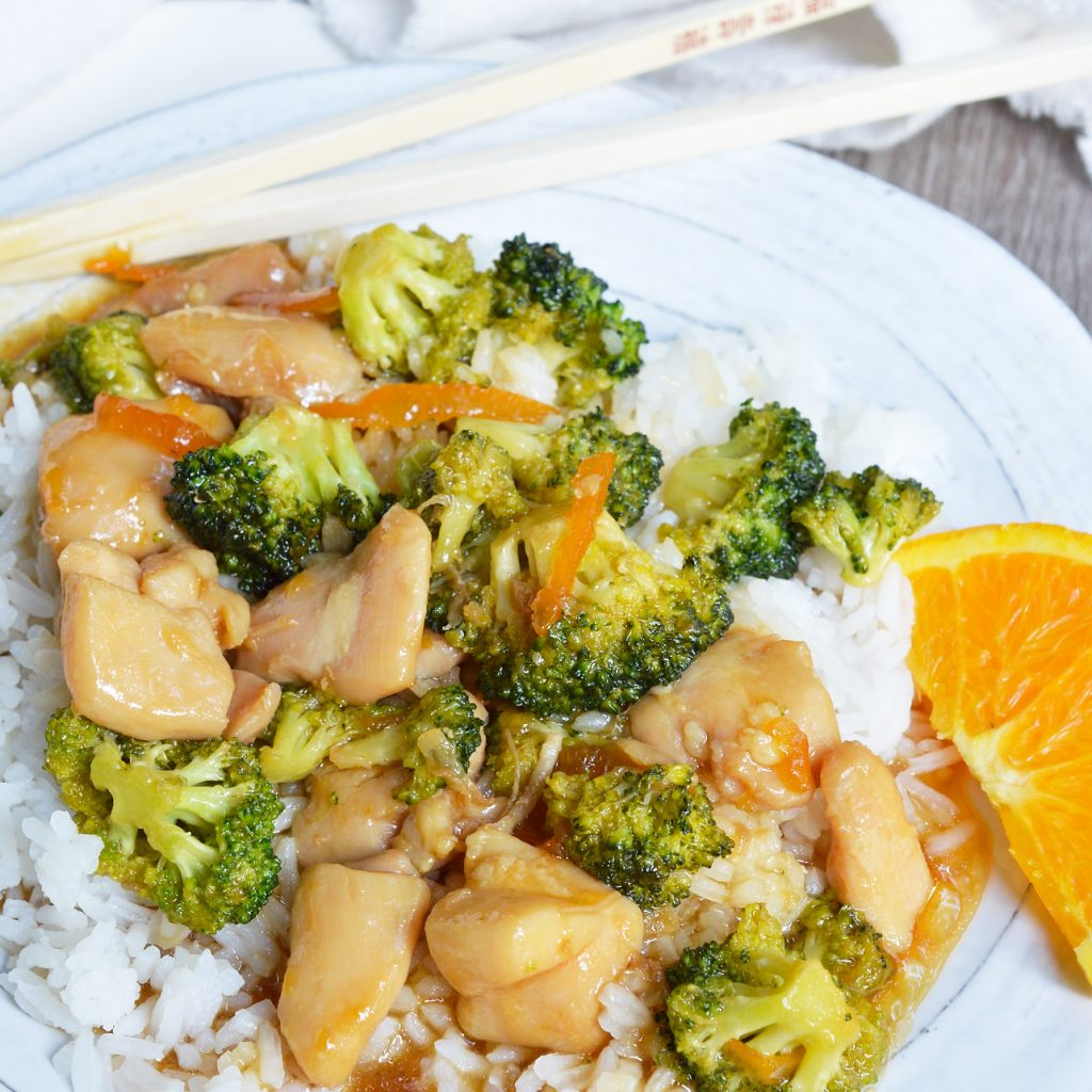 Orange Soy Chicken Broccoli