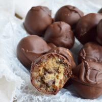 Edible Chocolate Chip Cookie Dough Truffles
