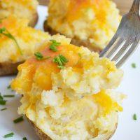 Easy Cheesy Twice Baked Potatoes