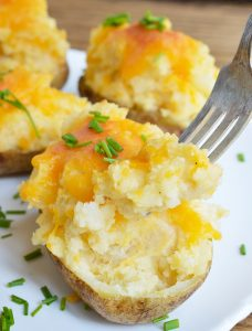 Easy Cheesy Twice Baked Potatoes