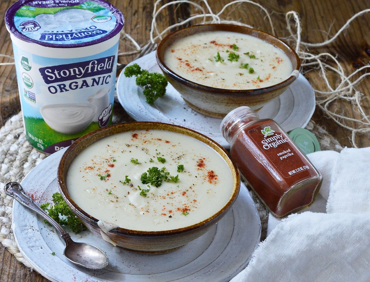 Make this Creamy Roasted Garlic Parsnip Soup Recipe to warm you up on chilly Winter days. Just 5 ingredients and about 30 minutes to make this healthy meal that is perfect for a vegetarian dinner!