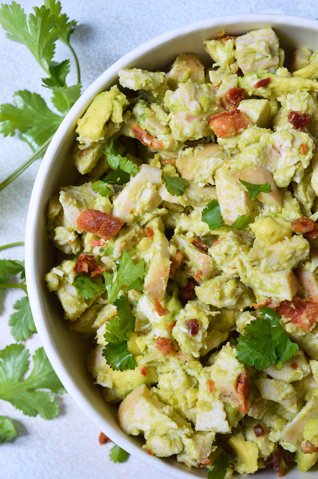 Bacon Avocado Chicken Salad Whole30 Recipe - WonkyWonderful