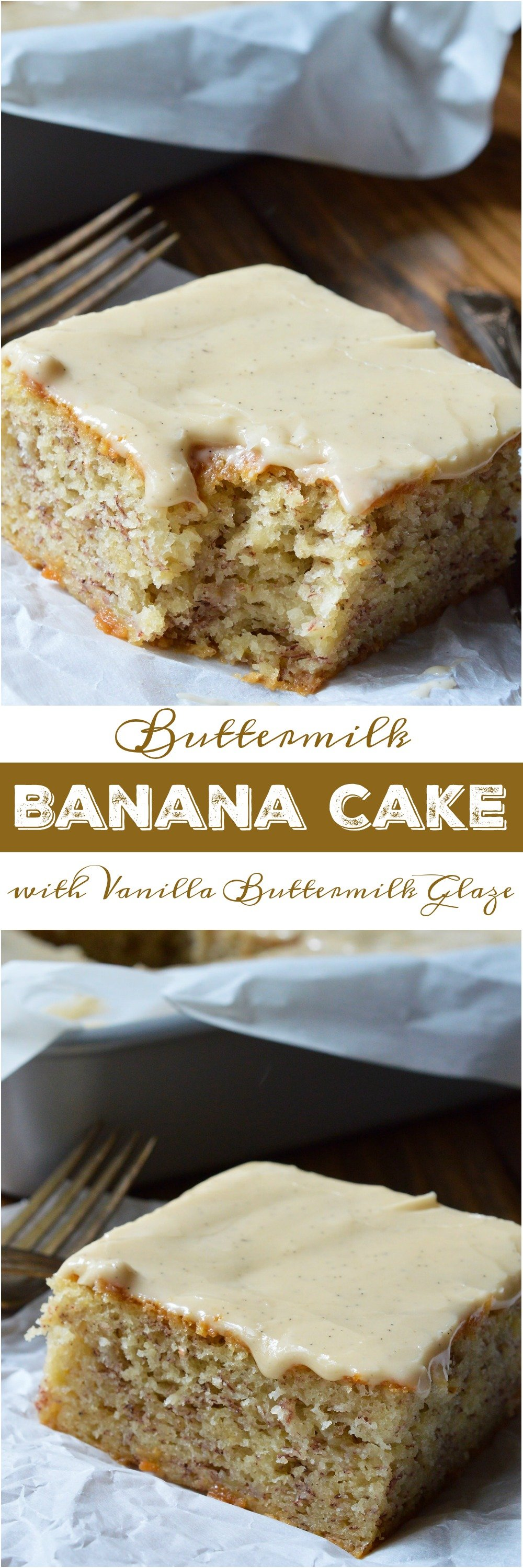 Buttermilk banana cake recipe with vanilla buttermilk glaze do you have a few brown overripe bananas hanging out on your counter if so forumfinder Choice Image