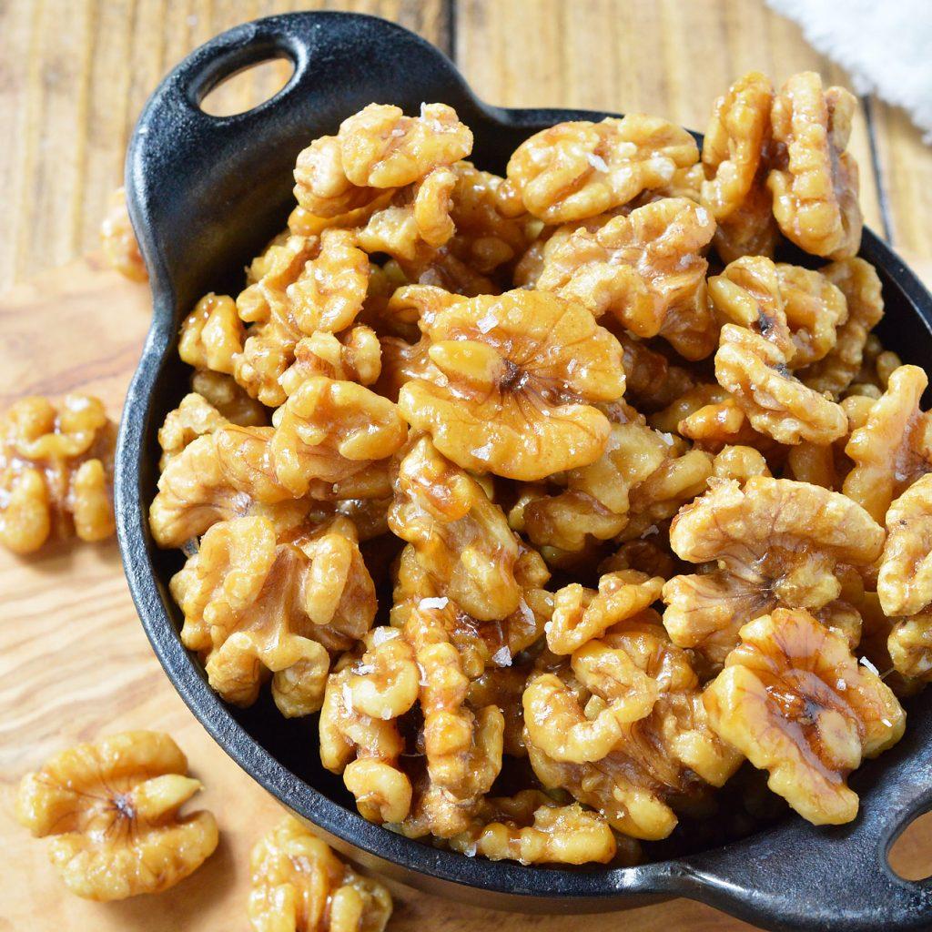 Easy Maple Glazed Walnuts Recipe