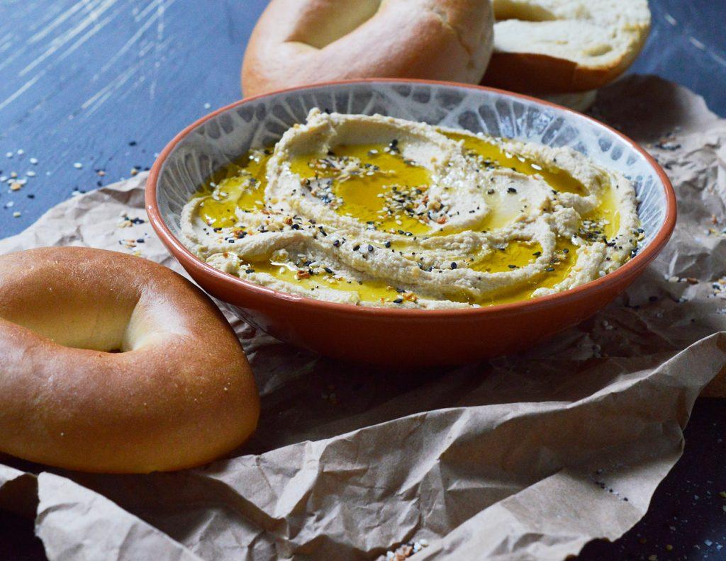 Creamy Hummus Bagel Spread
