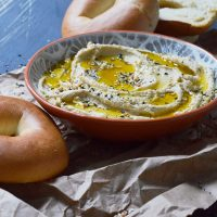Creamy Hummus Bagel Spread Recipe