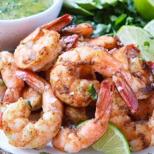 Cilantro Lime Spicy Baked Shrimp (Whole30, Paleo)