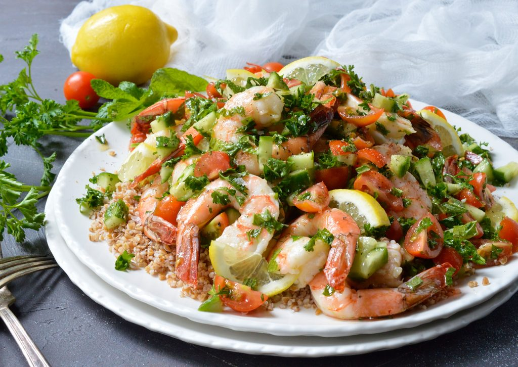Tabouli Shrimp Salad Recipe (Whole30)