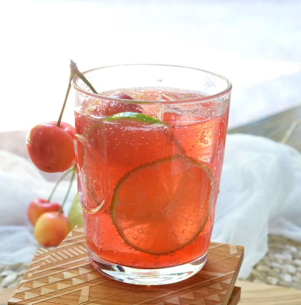 Cherry Lime Tequila Cocktail