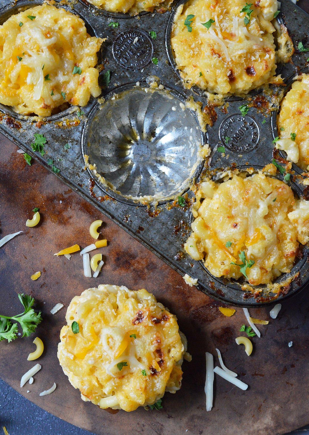 Mac N Cheese Muffins Recipe Wonkywonderful