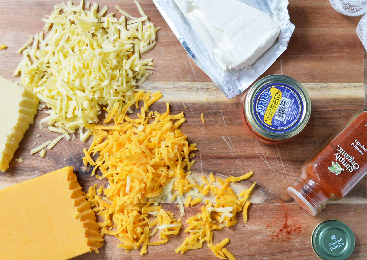 If you need an easy snack or appetizer this Pimento Cheese Recipe comes together in a snap! A favorite southern comfort food, this cheese spread is unbelievably delicious and highly addictive!