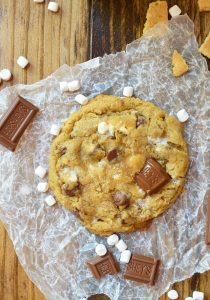 S'mores Chewy Chocolate Chip Cookies