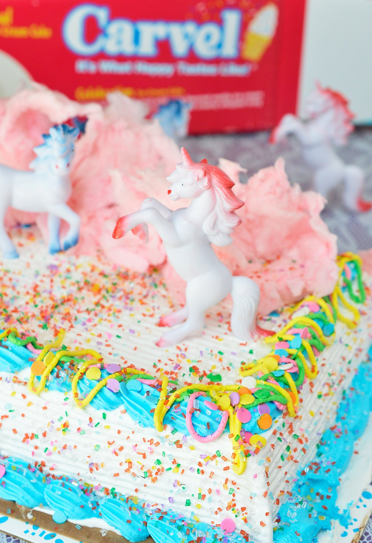 Get the party started with thisCotton Candy Unicorn Party Punch and Unicorn Ice Cream Cake! The punch recipe is made simply with 2 ingredients and the ice cream cake takes just minutes to decorate. The kids will love this fun and colorful drink!