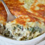 Spinach Artichoke Wild Rice Casserole is perfect for those busy weeknights. This family dinner recipe is nutritious and full of flavor!