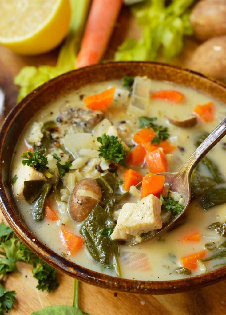 Creamy Chicken Rice Soup Recipe