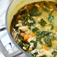 White Bean Vegetable Turkey Soup