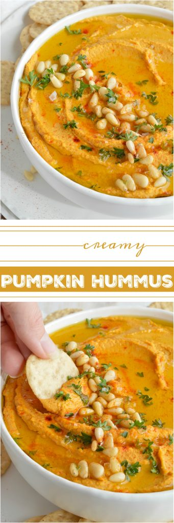This Pumpkin Hummus Recipe needs to be on your holiday menu! This hummus is super creamy, full of flavor and great for feeding a hungry crowd! The perfect healthy dip recipe for Thanksgiving. #pumpkin #thanksgiving #wonkywonderful