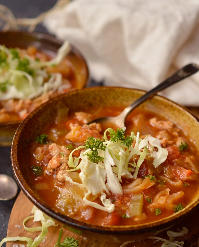 Slow Cooker Cabbage Roll Soup (Whole30, Paleo)